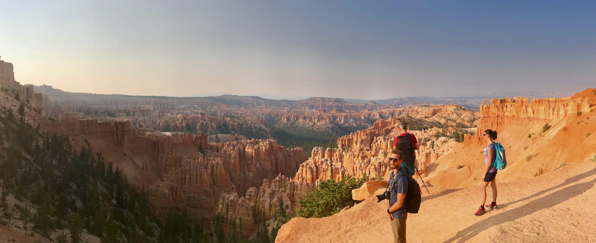 Il nostro primo panorama sul Bryce National Park