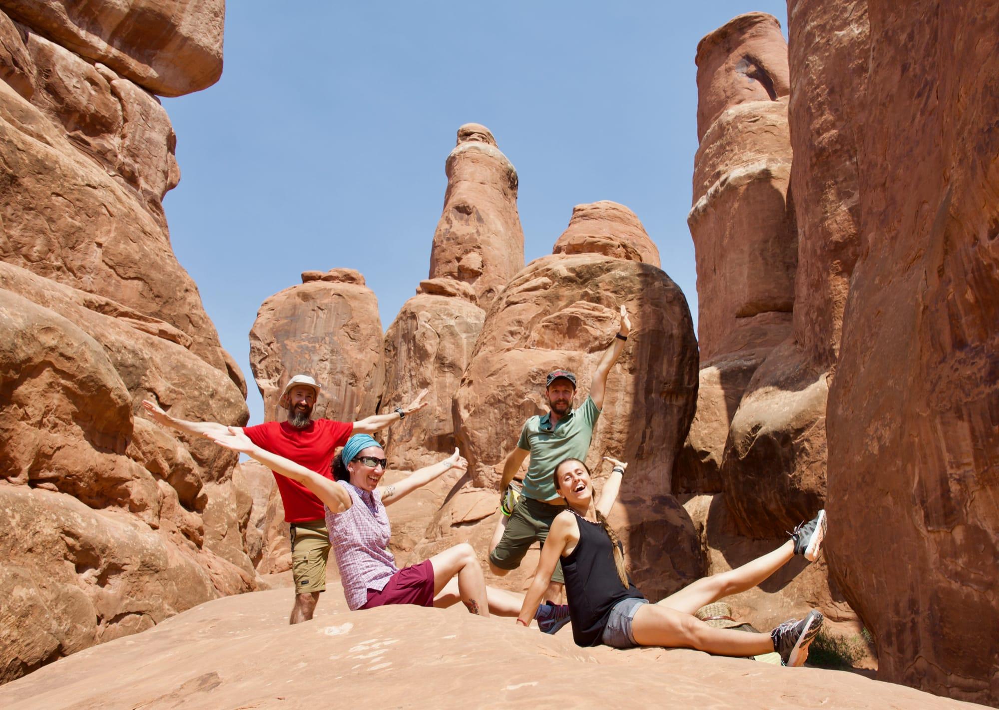 Foto di gruppo, Arches National Park
