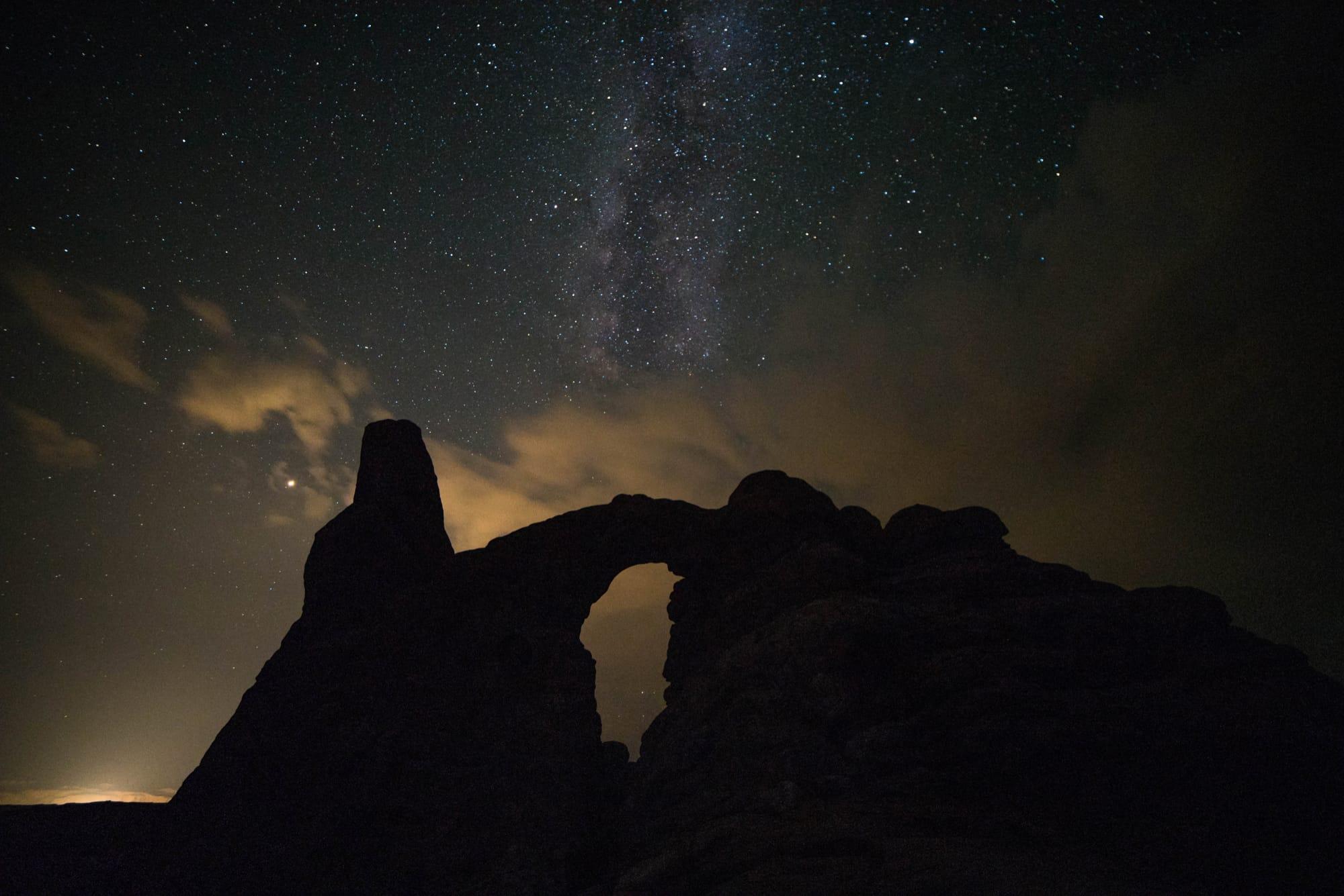 Turret Arch e Via Lattea, foto scattata da Dimitri