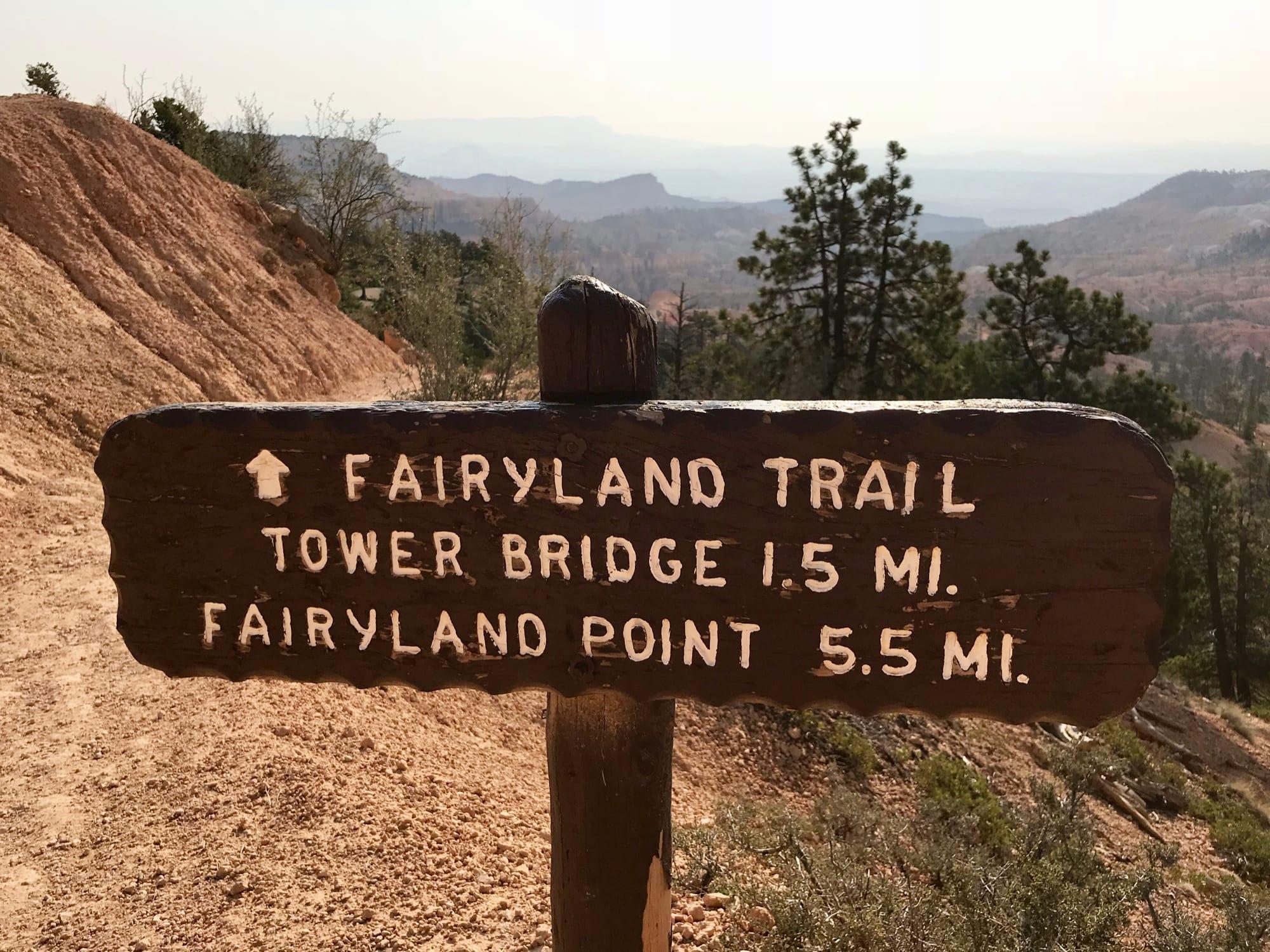 Cartello Fairland trail