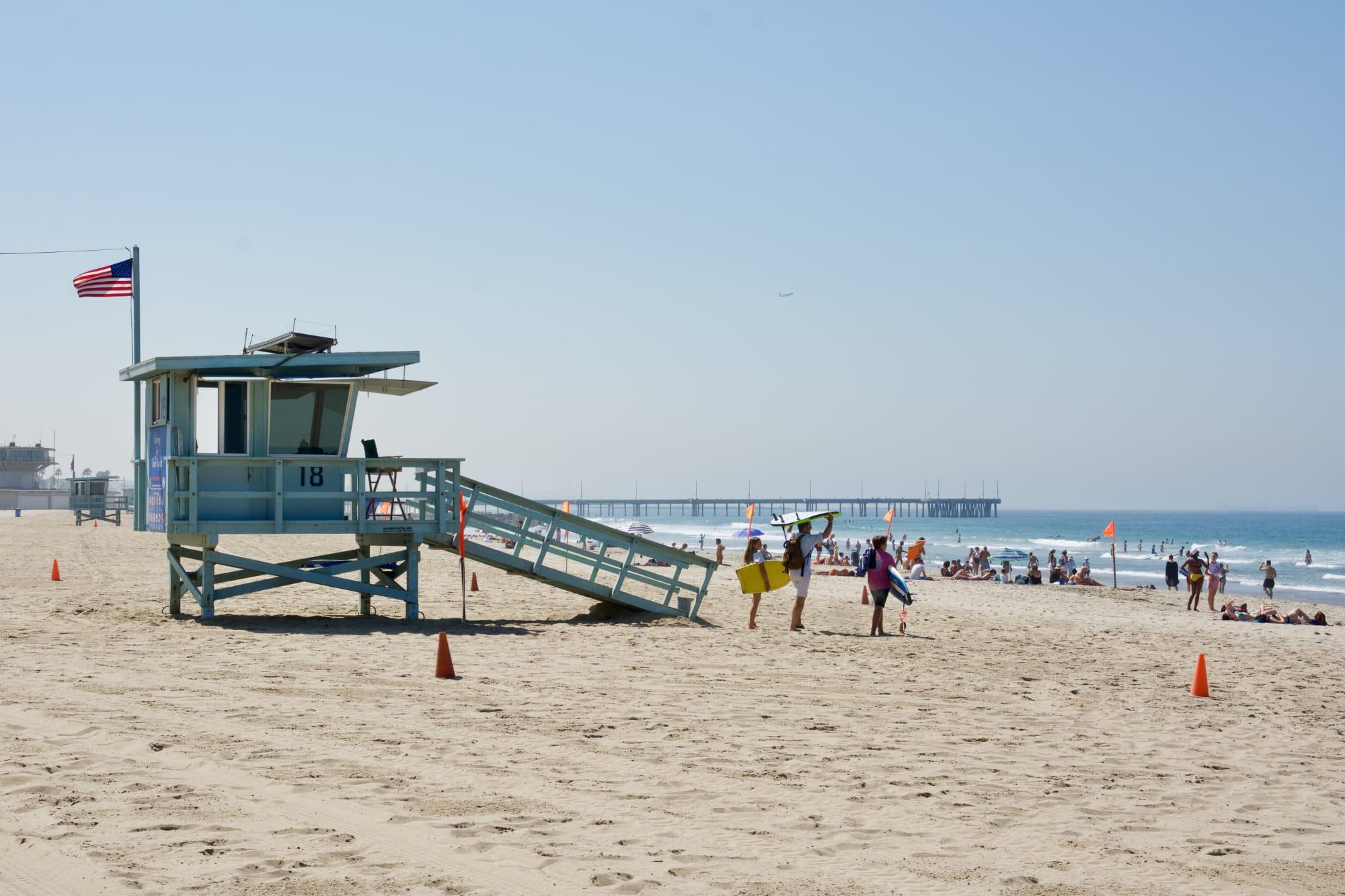 La torretta del bagnino a Venice Beach