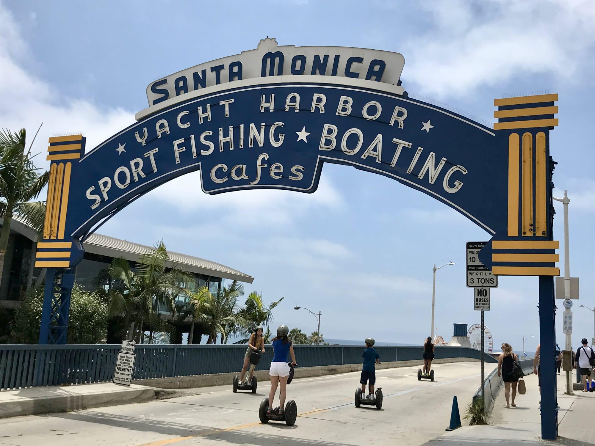 L'ingresso del Santa Monica Pier