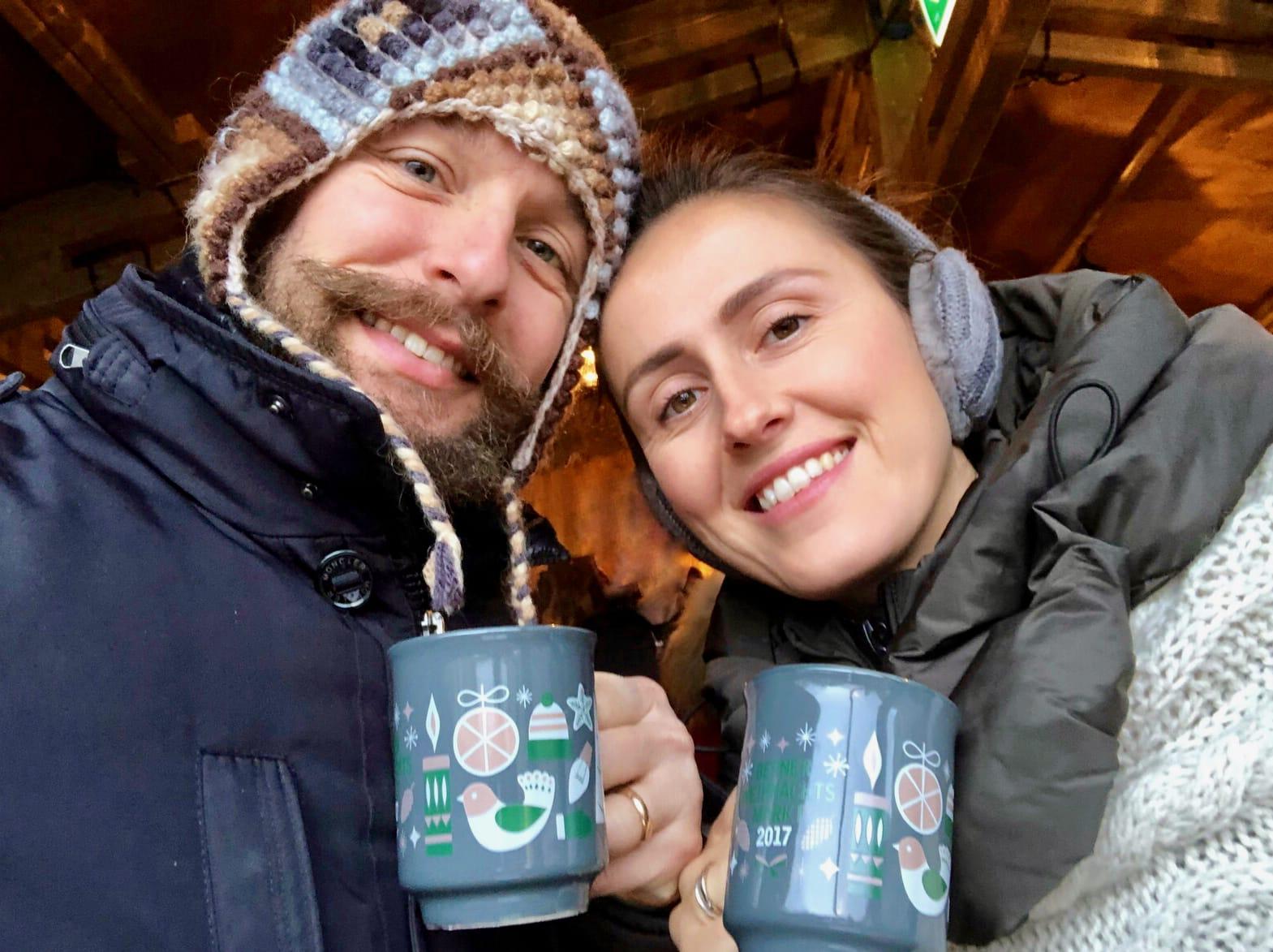 Noi con una tazza di Gluhwein, Berna