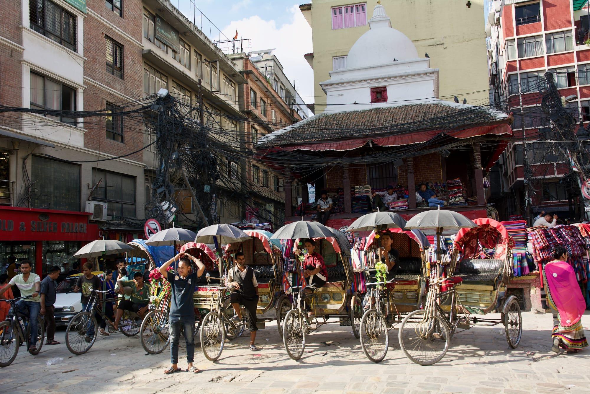 Strolling through Kathmandu