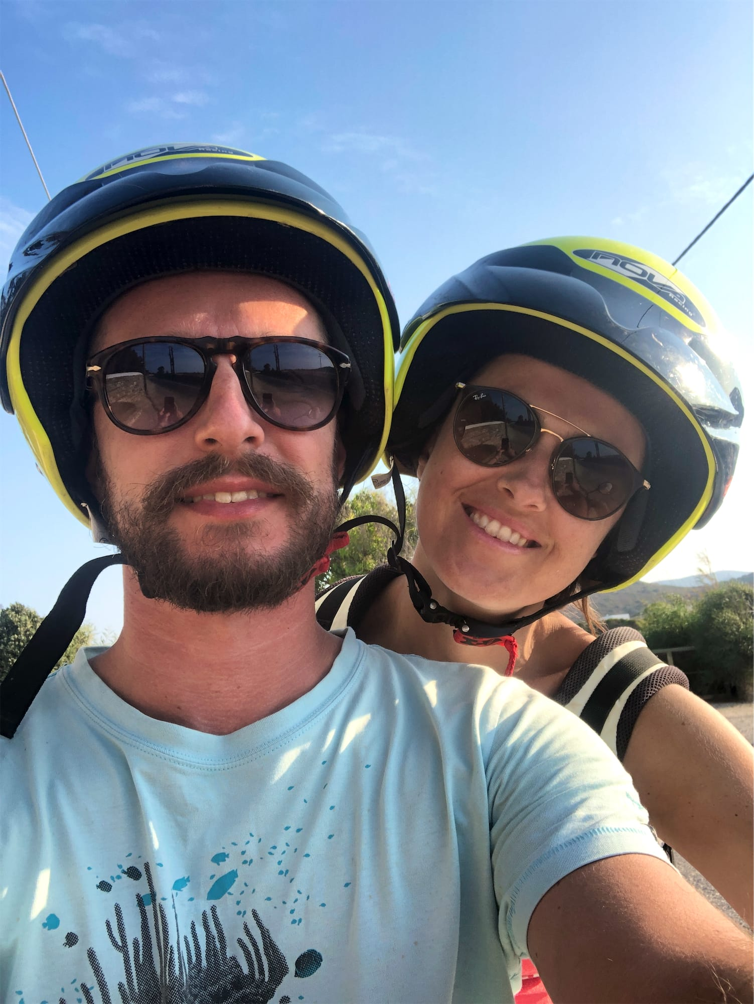 Us on our scooter