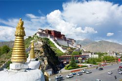 Tibet: blue sky and high altitude monasteries